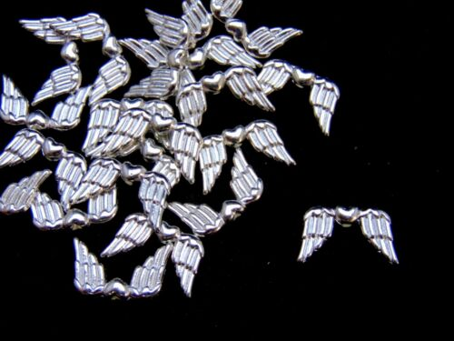 20 Pcs 18mm Bright Tibetan Silver Wing Spacer Beads Craft Charms Findings S29