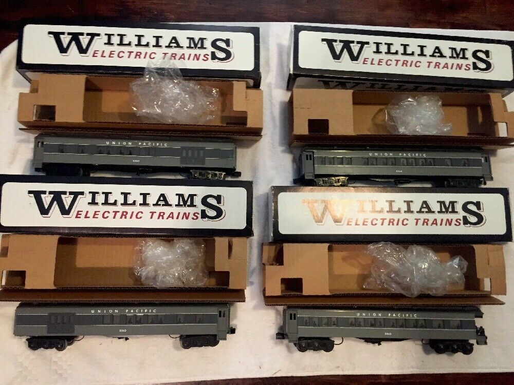 Williams Union Pacific 2362 72 Ft. Heavyweight Passenger Lot 4 Cars (Lionel MTH)