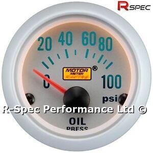 Silver-Face-52mm-Oil-Pressure-Press-Gauge-Kit-PSI-With-1-8-Npt-Pressure-Sensor