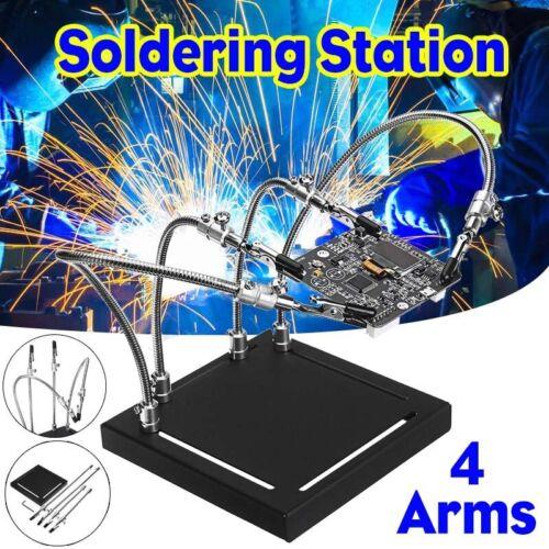DIY Welding Strange 4 Flexible Arm Hand Soldering Station PCB Fixture Helper Kit