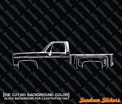 2X Lowered truck stickers for Chevrolet C10 short bed pickup 3rd Gen 1973-1987