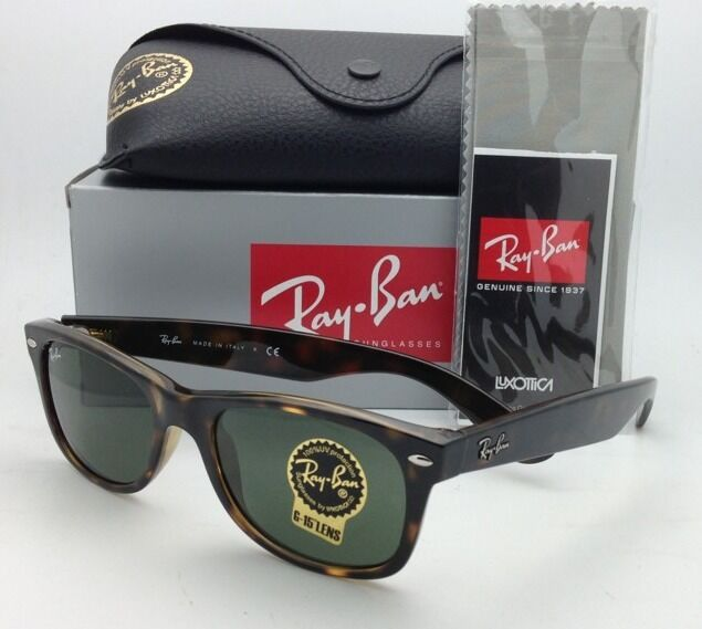 bcb7fadf57 Ray-Ban Rb2132 902 Wayfarer Tortoise Sunglasses With Green Lens 52 Mm for  sale online