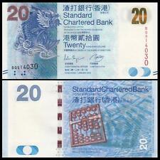 Hong Kong 20 Dollars 2012 P297 UNC**New Date (SCB)