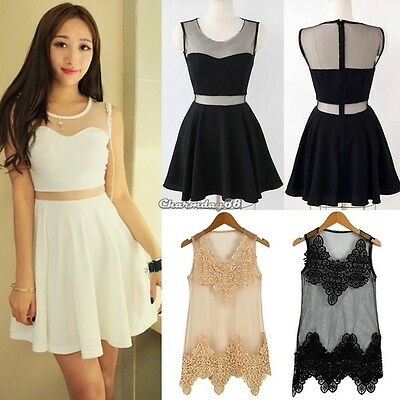 Fashion Women Korean Casual ClubWear Evening Cocktail Vest Tank Dress Skirt C1MY