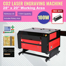 Omtech Upgraded Co2 Laser Engraver Cutter With Rotary Axis Ruida 100w 28x20