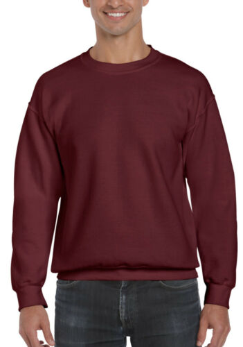 Gildan 12000 DryBlend Adult Crew Neck Plain Sweatshirt Warm Top Mens Jumper