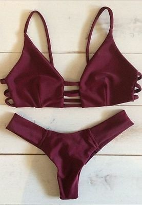 Sexy Women Bandage Bikini Set Push-up Padded Bra Swimsuit Bathing Suit Swimwear