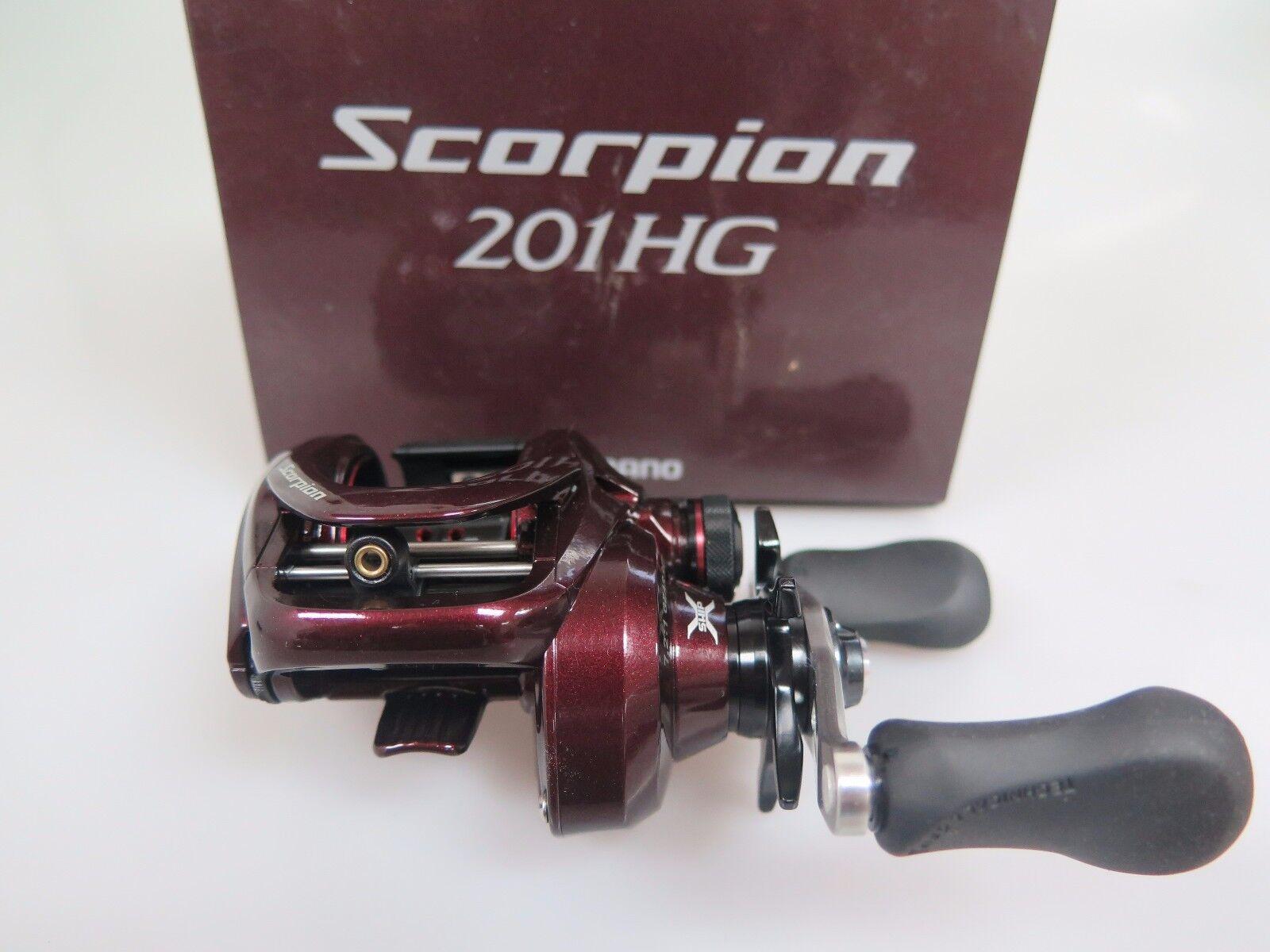 SHIuomoO Scorpion 201HG Left Baitcasting Reel 201 HG Fedex Priority 2days to Usa