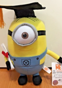 "Graduation Despicable Me 2 /""MINION STUART/"" 1 EYE 10/"" INCHES Plush"
