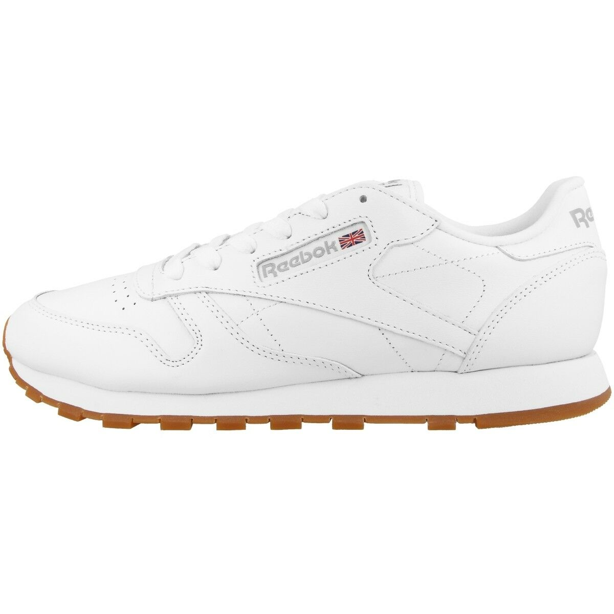 Reebok Classic Leather Women Ladies Casual shoes Trainers White Gum 49803