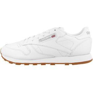 Details zu Reebok Classic Leather Women Damen Schuhe Freizeit Sneaker white gum 49803