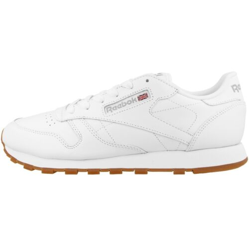 Reebok Classic Leather Women Damen Schuhe Freizeit Sneaker white gum 49803