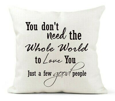 Friend Gift Cream Cushion The Greatest Showman Inspirational Quote Gift