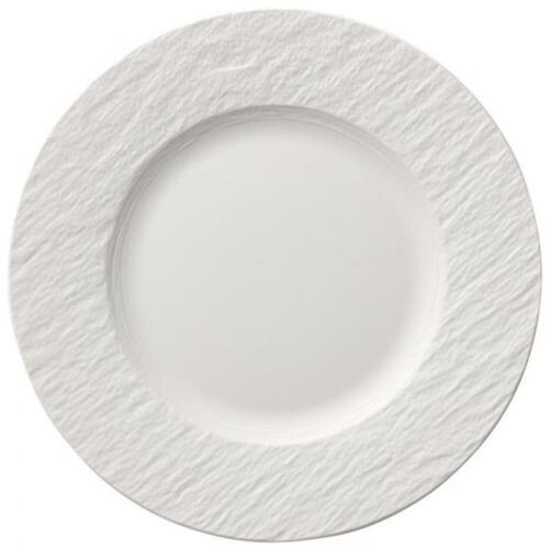 V/&B Manufacture Rock blanc Frühstücksteller 22 cm Kuchenteller Teller rund weiss