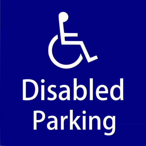 Disabled Parking sign Disability Mobility Car Taxi Minibus STICKER//VINYL DECAL.