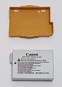 Canon Battery+Cap+Keeper LP-E8 LPE8 for EOS Rebel 550D 650D T4i X6i