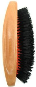 Serenade-Premium-Polished-Wood-Gent-039-s-Military-Hair-and-Beard-Brush