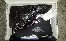 Nike Air Jordan 5 V Retro OG Black Metallic Uk 9 BNIB 2016