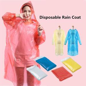finest selection good service top style Details about 5/10PCS Rain Coat Disposable Poncho Rainwear Rain Gear  Waterproof (Color Random)