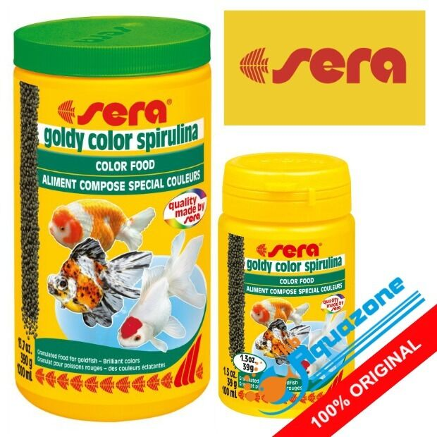 SERA * GOLDY COLOR SPIRULINA 250ml 1000ml ORIGINAL GRANULES COLOR ENHANCING