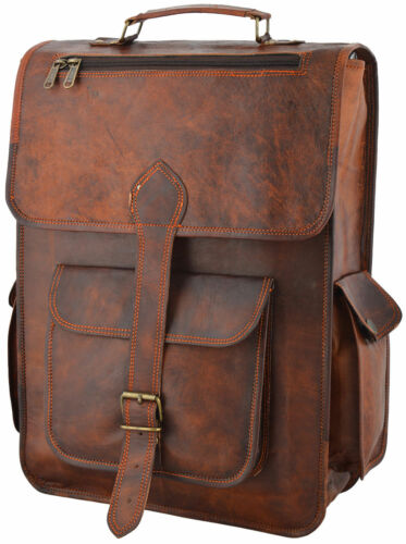 Bag Men/'s Vintage Rucksack School Bag Travel Satchel Leather Laptop Bag Backpack