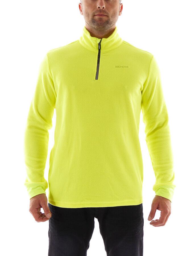 Brunotti Fleece Upper Part Functional Sweater Tenno  Neon Yellow Zip Insulating  unique design