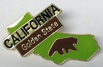 CALIFORNIA GOLDEN STATE LAPEL PIN HAT TAC NEW