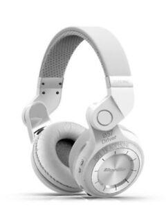 Bluedio-T2-auriculares-bluetooth-inalambricos-de-diadema-plegable-micro-Blanco