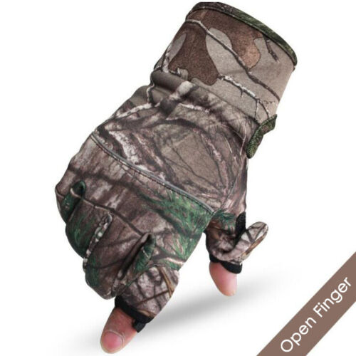 New Camouflage Fishing Gloves Hunting Gloves Anti-Slip 2 Fingers Cut Outdoor