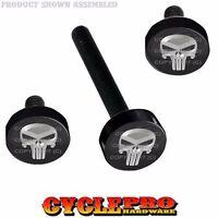 Black Billet Fairing Windshield Hardware Kit 14-up Harley Touring Silver P Skull