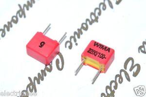 10pcs-WIMA-FKP2-2200P-2200PF-2-2nF-2-2nF-100V-5-Pitch-5mm-Kondensator
