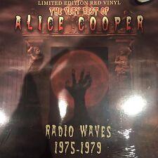 Alice Cooper - Very Best Of : Radio Waves 1975-1979 -  Red Vinyl LP - BRANDNEW