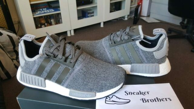 Adidas NMD_R1 Runner Nomad Boost 3M Reflective Wool Charcoal Grey Gray BW0616 PK