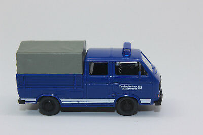 NEU OVP VW T3 Doppelkabine Wiking 1//87 H0 029307 THW