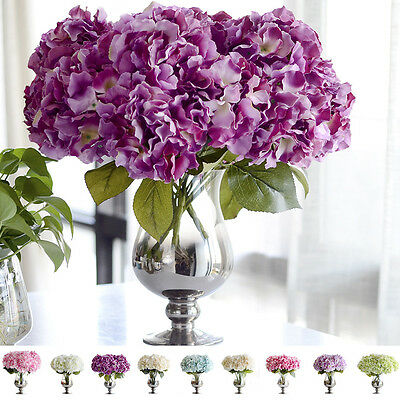 40cm Artificial Hydrangea Silk Flowers Flower Floral Fake Wedding Home Decor NW