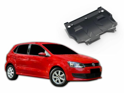 ENGINE GEARBOX GUARD SKID PLATE UNDERTRAY BLACK STEEL for VW POLO 6R 2005-2014