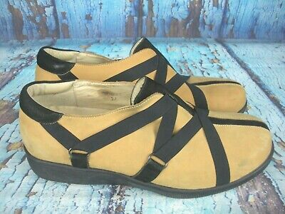 Gravity Defyer Tan Leather Comfort Shoes Slip-on Wedge Women's Size 10 Clothing, Shoes & Accessories