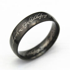 Size13 Black Colors Trend Black IP Lord of the Ring, The One LOTR Band Ring