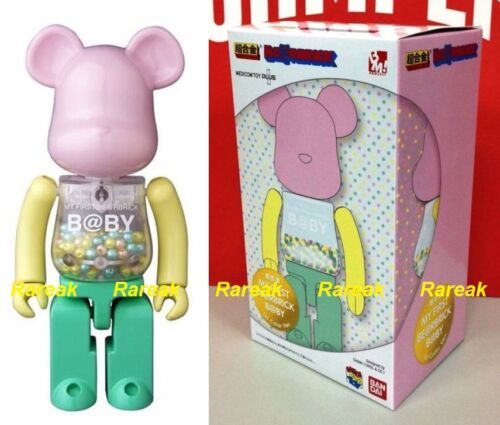 Medicom Be@rbrick My First Baby Alloyed 200/% Chogokin Pink /& Green Bearbrick