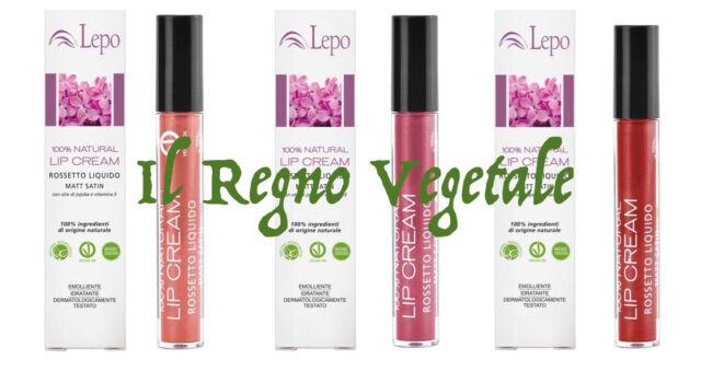 Lepo ROSSETTO LIQUIDO Lip Cream 100% Natural Bonne Mine VEGAN Ok Nickel Tested