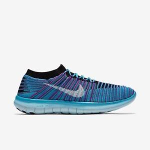 Nike WOMEN'S Free Run Motion Flyknit Gamma Blue/Hyper Violet SIZE 10 BRAND NEW