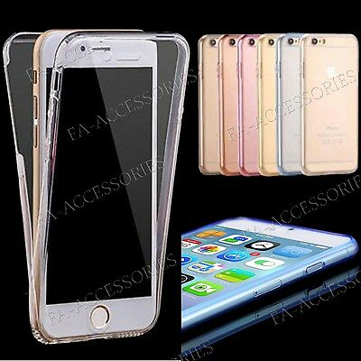 For iPhone 7 7 Plus Full Back & Front Protection Back Front Thin TPU Cover Case