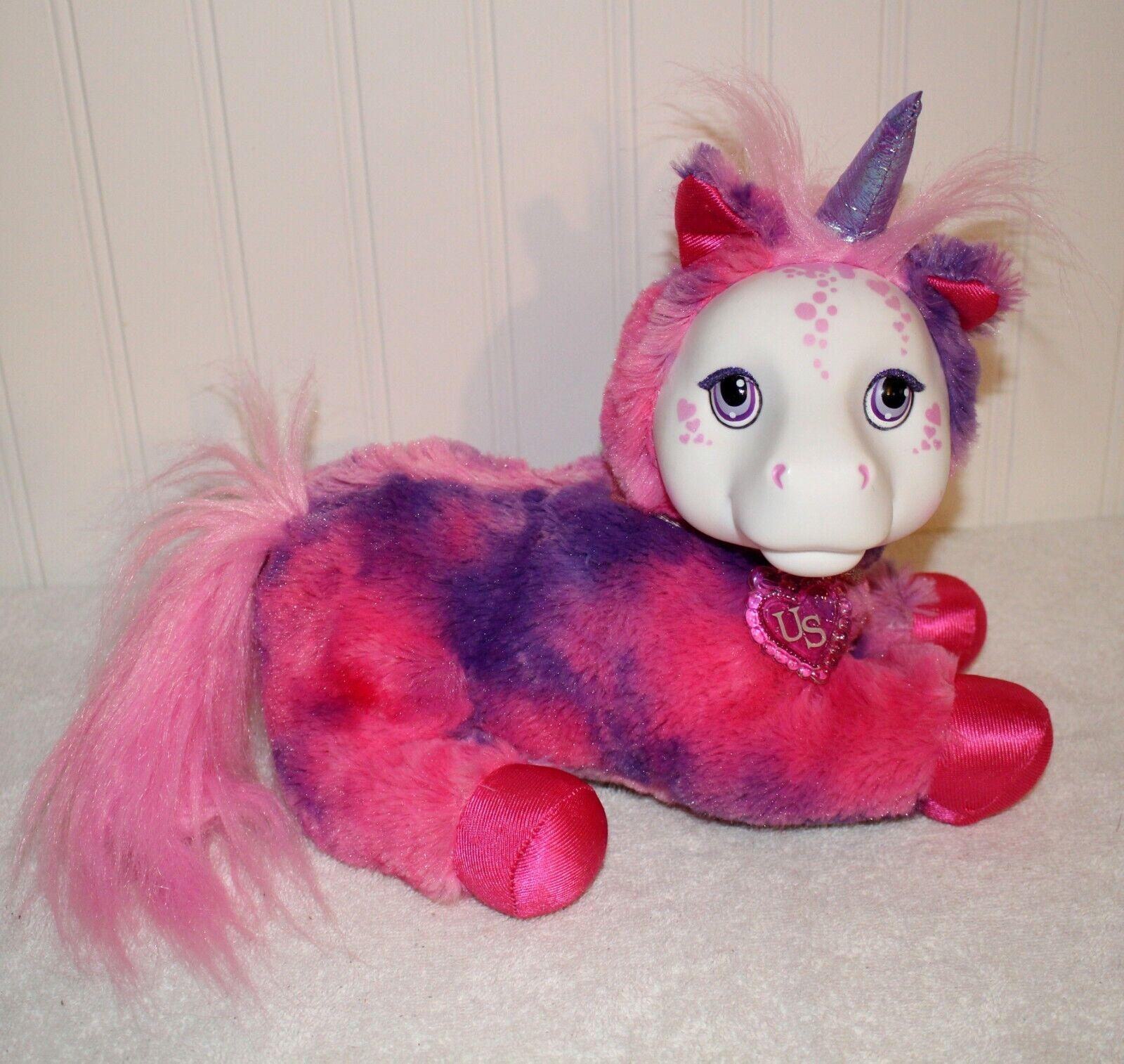 Unicorn Surprise  Livia Plush Doll Stuffed Animal purple pink  2017 Just Play