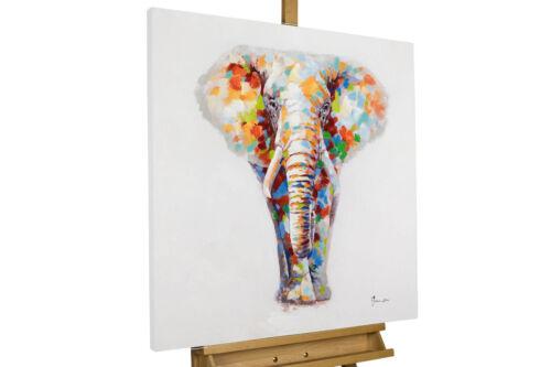 Canvas Print Abstract Watercolor Home Decor Wall Art Elephant Animals Nursery