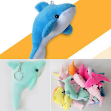 10cm Lovely Soft Stuffed Plush Dolphin Keychain Charm Pendant Bag Purse Key Ring