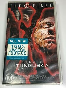 The-X-Files-VHS-Video-Tape-2-Titles-TUNGUSKA-TERMA-File-6-Very-Good-Condition
