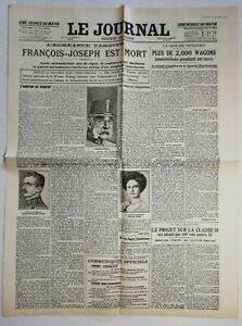 N962-La-Une-Du-Journal-Le-journal-22-novembre-1916-Francois-Joseph-est-mort