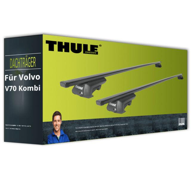 Thule SquareBar - Dachträger - Stahl - für Volvo V70 Kombi Typ SW II kpl. + EBA
