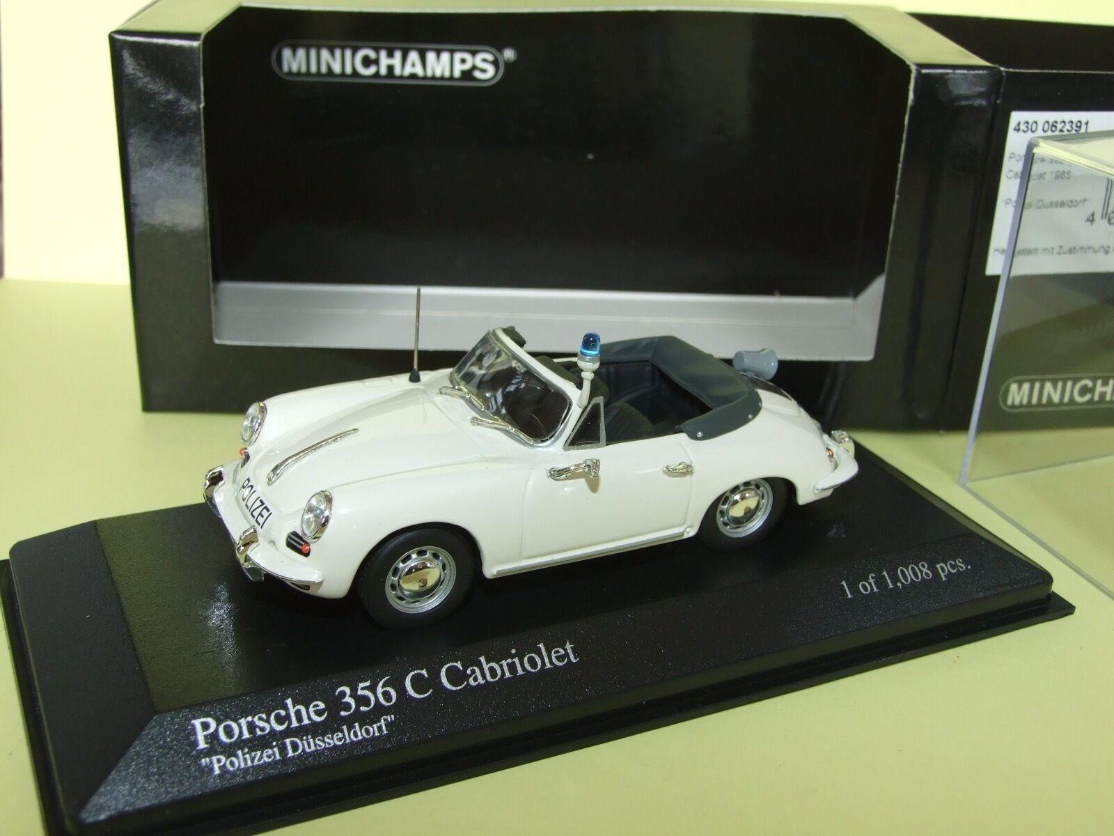 PORSCHE 356 C CABRIOLET POLIZEI DUSSELDORF 1965 MINICHAMPS 1 43