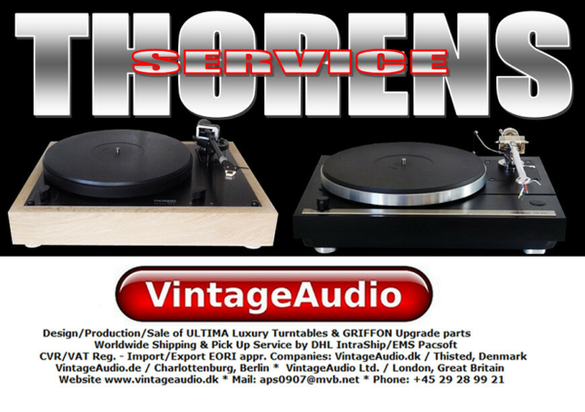 Pladespiller, Thorens, Experience since 1981 with more than…